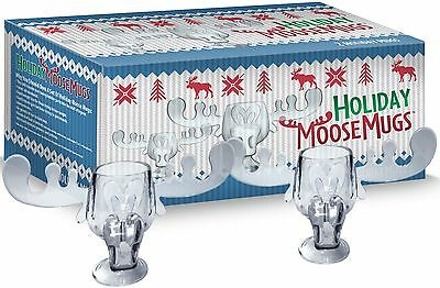Chevy Chase National Lampoons Christmas Vacation Acrylic Moose Mugs Set of 2 NEW