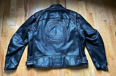 Harley Davidson Men's Willie G Reflective Skull Leather Jacket 3XL
