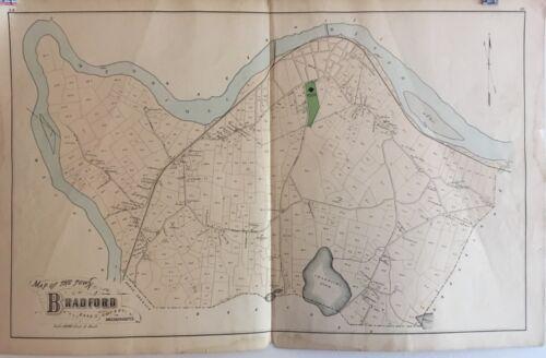 Town of Bradford, Massachusetts Lithograph Map 1884