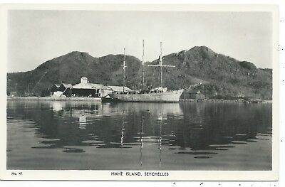 SEYCHELLES / SHIPPING - MAHE ISLAND Raphael TUCK Real Photo Postcard