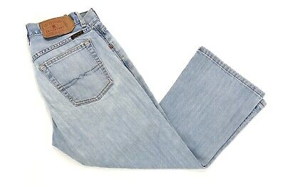 Lucky Brand Women's 4/27 Easy Rider Crop Jeans Blue Light Wash Button Fly USA Easy Rider Crop
