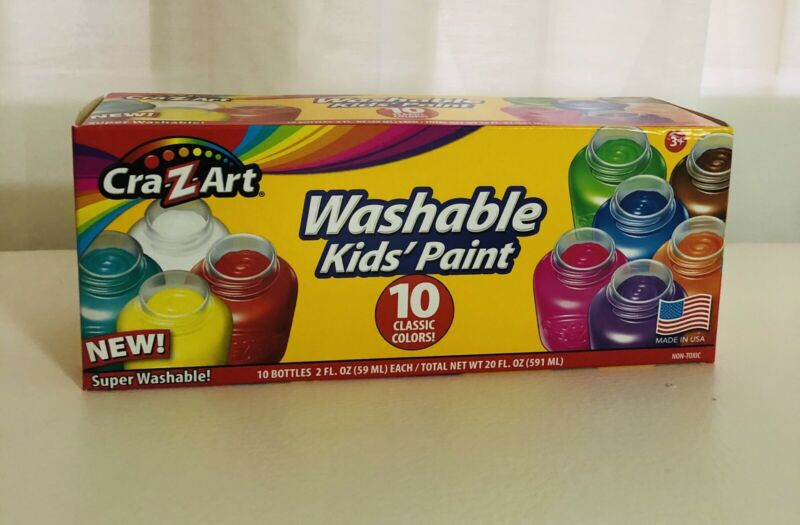 New Washable Kids drawing Paint by Cra-Z-Art 10 Colors