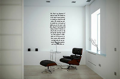 Psalms 23The Lord Is My Shepherd Wall Sticker Mural Vinyl Decals Bible Verse 4Ft