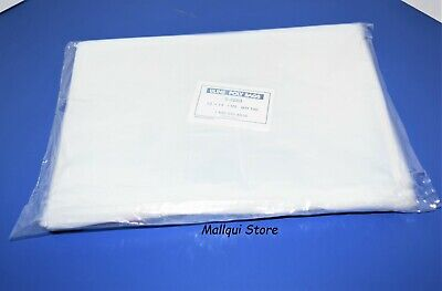 100 CLEAR 10 x 14 LAY FLAT OPEN TOP POLY BAGS PLASTIC PACKING ULINE BEST 1 MIL