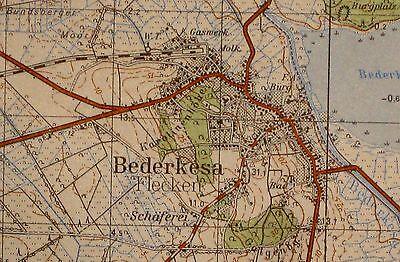 2318 Bederkesa, topographische Karte, 1:50.000, gedruckt 1961, ungefaltet !!