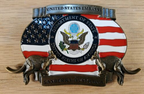 "US State Department US Embassy Canberra Australia Challenge Coin 2"" t 146"