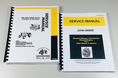 Service Manual Set John Deere 440 440i 440c Industrial Diesel Tractor Crawler