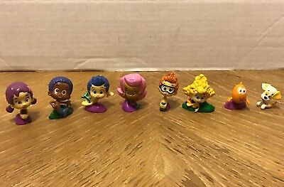 Lot of Bubble Guppies Figures Toys Cake Toppers Gil Molly Nonny Deema Oona Goby (Bubble Guppy Toys)