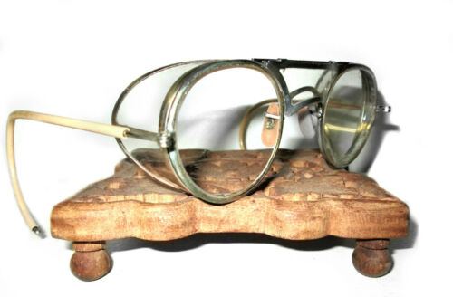 Antique Bausch and Lomb Goggles RayBan Safety Glasses Vtg Old Cool Rockabilly BL