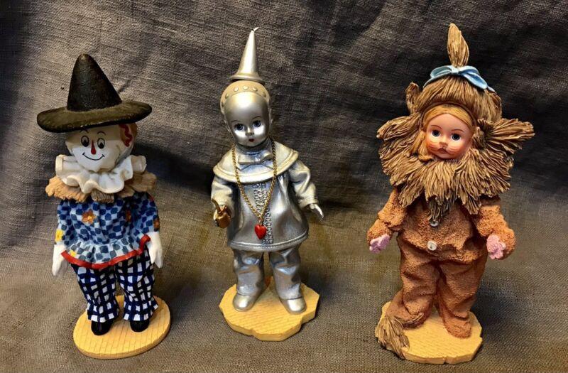 MADAME ALEXANDER Vtg Wizard of Oz Collectible Figures - Lion, Tin Man, Scarecrow