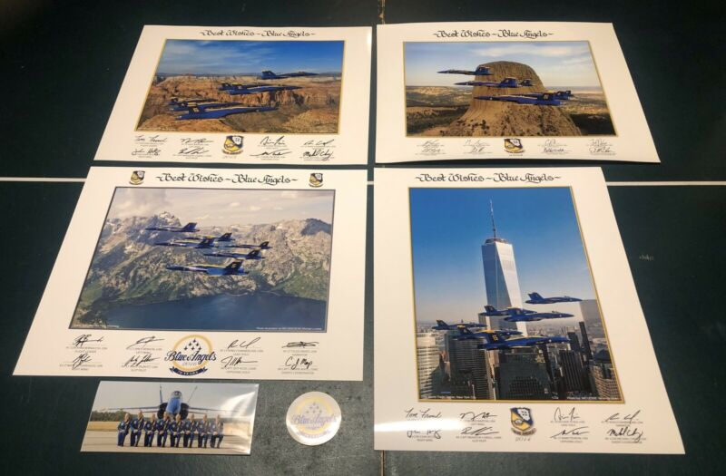 US NAVY BLUE ANGELS 70th Anniversary Poster Pack (4) LITHO Prints Authentic NEW