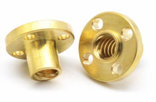 T30 Left Flange Trapezoidal Nut ACME Screw Lead CNC Router Machine Drive T10