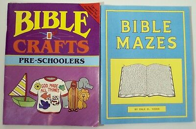 Rod & Staff Bible Mazes Dale Yoder Rainbow Bible Crafts Pre-Schoolers lot of 2 - Bible Craft