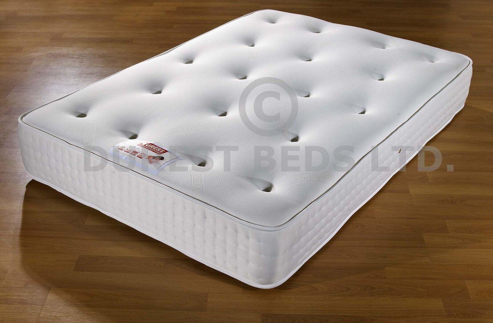 12 memory foam semi orthopaedic mattress double 4ft6 5ft. Black Bedroom Furniture Sets. Home Design Ideas
