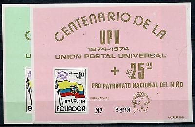 Ecuador Block 66/67 postfrisch / UPU ......................................1/180