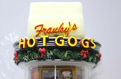 Dept 56 MISSPELL Franky's Hot Dog NEW 'GOGS' production error 55608 Snow Village