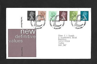 GB FDC 30/01/1980 New Definitive values with Windsor £ FDI SHS