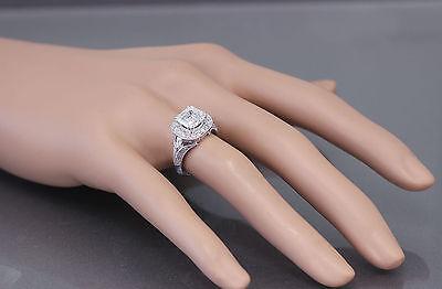 GIA I-VS2 18k White Gold Asscher Cut Diamond Engagement Ring Etoile Deco 2.85ctw 2
