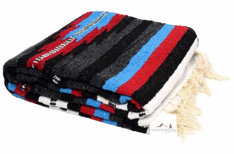 Mexican Blanket, Serape Throw, Mexican Yoga Blanket, Boho Aztec style XL