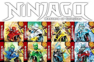 Ninjago Season 11 8pc Motorcycle Minifigures Set - USA SELLER