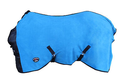 Horse Sheet Polar FLEECE COOLER Blanket Blue 4343