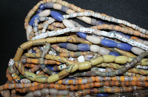Bundle of (20) Strands of Sandcast Trade Beads #2....Buy It Now