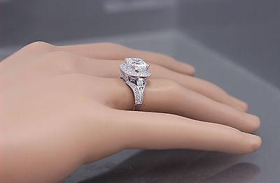 GIA I-VS2 18k White Gold Asscher Cut Diamond Engagement Ring Etoile Deco 2.85ctw 1