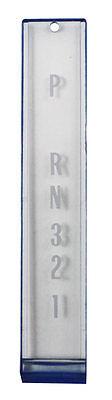 Console Indicator Shift Plate - 1972-1976 Corvette Console Shift Plate Indicator Lens Blue Automatic