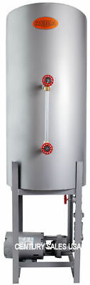 Bjhv-8 Heavy Vertical Boiler Condensate Tank W Burks 3hp Pump For 50 Hp Boiler