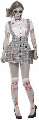 Zombie School Girl Student Dead Nerd Fancy Dress Up Halloween Adult Costume](Halloween Dead School Girl)