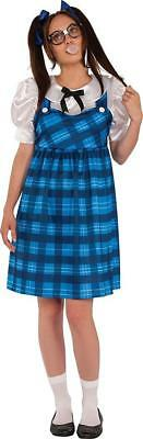 Nerd Lady Student Plaid Girl Class Geek Fancy Dress Up Halloween Adult Costume