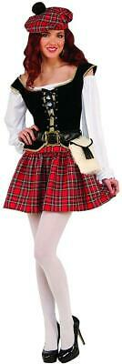 Saucy Scottie Scottish Girl Highlander Fancy Dress Halloween Sexy Adult Costume