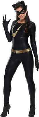 Catwoman 1966 Classic Batman TV Series Villain Halloween Deluxe Adult Costume ()