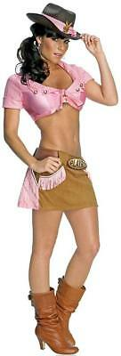 Sexy Cowgirl Wild West Sheriff Playboy Fancy Dress Up Halloween Adult Costume