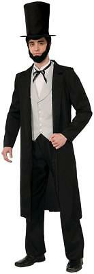 Abraham Lincoln US President Historical Fancy Dress Up Halloween Adult Costume