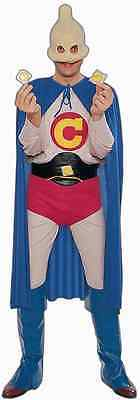 Captain Condom Halloween Costume (Captain Condom Sex Ed Superhero Funny Fancy Up Dress Halloween Adult)