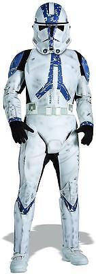 Clone Trooper Star Wars Movie Soldier Fancy Dress Halloween Deluxe Child Costume ()