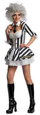 Beetlejuice Female Ghost Zombie Ghoul Fancy Dress Halloween Sexy Adult Costume](Female Zombie Costumes)