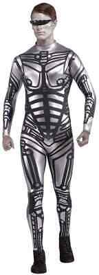 Male Robot Cyborg Space Future Machine Fancy Dress Up Halloween Adult Costume - Robot Costume Adult