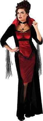 Scarlet Vampira Gothic Vampire Fancy Dress Up Halloween Plus Size Adult Costume (Gothic Halloween Costumes Plus Size)