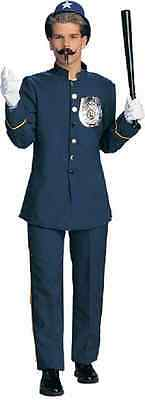 Keystone Kop Cop Police Officer Comic Dress Up Halloween Deluxe Adult Costume - Keystone Costume