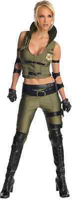 Mortal Kombat Female Costumes (Sonya Blade Mortal Kombat Ninja Warrior Fancy Dress Halloween Sexy Adult)