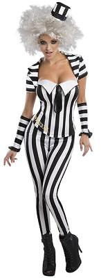 Beetlejuice Female Ghost Zombie Ghoul Fancy Dress Halloween Sexy Adult Costume