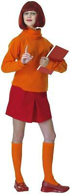 Velma Dinkley Scooby-Doo Cartoon 60's Hippie Fancy Dress Halloween Adult Costume](Velma Scooby Doo Halloween Costume)
