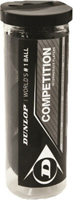 Dunlop Competition Squash Balls 3 Ball In Tube