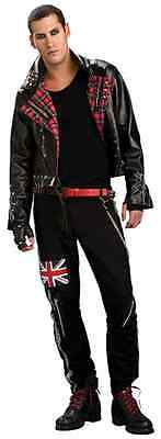 Punked Out Punk Rock Star Anarchist Anarchy Fancy Dress Halloween Adult Costume