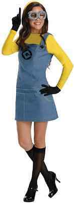 Female Minion Despicable Me 2 Minions Fancy Dress Up Halloween Adult Costume - Minions Despicable Me Halloween Costumes