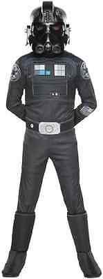 Tie Fighter Pilot Star Wars Rebels Imperial Fancy Dress Halloween Child Costume