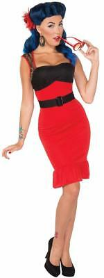 Scarlet Rose Retro Rock 40's Pin Up Pinup Fancy Dress Halloween Adult - 40s Halloween Costumes