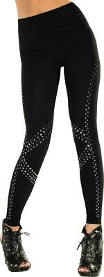 Rock Star Studded Leggings 80's Pop Punk Fancy - Pop Rocks Halloween Kostüm